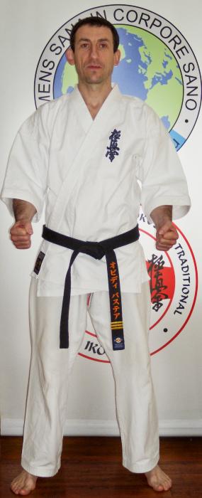 Sensei karate kyokushin Ovidiu Bastea