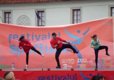 Demonstratie Tae Bo - Festivalului Sportului 2013