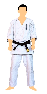 kyokushin-centura-neagra-cu-tresa-aurie-1-dan