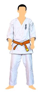 kyokushin-centura-portocalie-cu-tresa-galbena-9-kyu