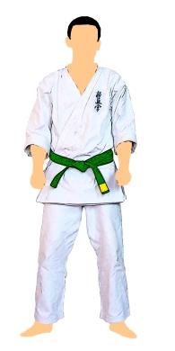 kyokushin-centura-verde-cu-tresa-galbena-3-kyu