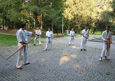 Antrenament Bo in parc, Sibiu, 2013